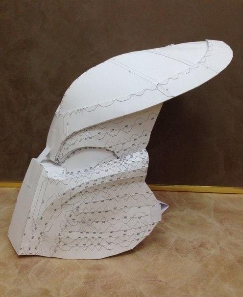 Как сделать маску Predator Jungle Hunter pepakura, papercraft, predator, хищник, маска, моё, Своими руками, длиннопост