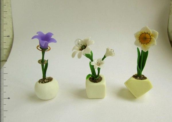 Мои ламповые цветочки полимерная глина, цветы, шестеренки, лампочки