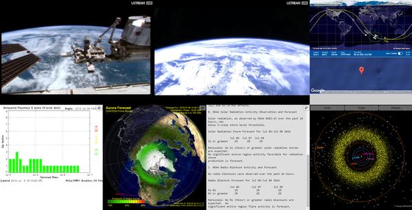 Сайт космического мониторинга космос, МКС, земля, трансляция