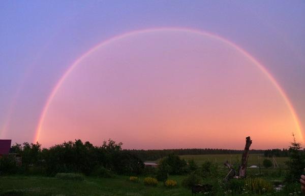 Апокалиптическая радуга радуга, фото, Природа