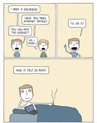Комикс про знакомство в интернете