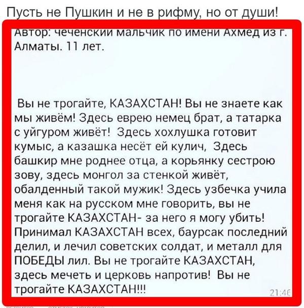 Забавный (в меру) стих чеченского мальчика.