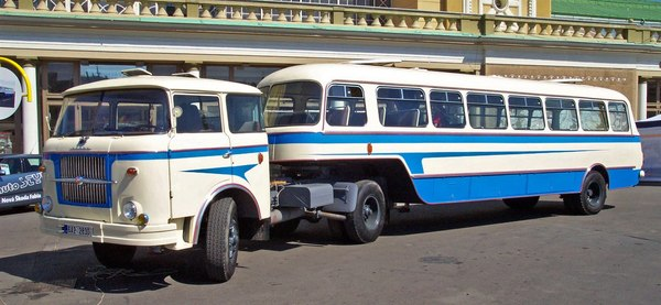 Необычный автобус. Необычный автобус, Прицеп, Karosa NO 80, Выполненный, База, Кузов, Skoda 706 RTO, Интернет