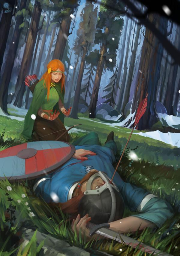 Betrayer арт, Игры, The Banner Saga, предательство, викинги