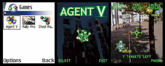 Agent V AgentV, Дополненная реальность, Олдскул, Symbian, Мобильные игры