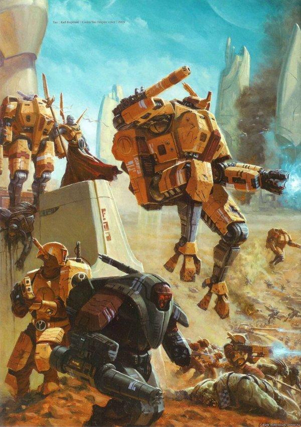 Империя Т'ау - перевод из Индекс: Ксенос 2 Warhammer 40k, wh back, Tau Empire, Тираниды, длиннопост
