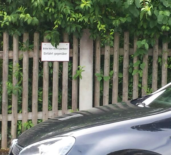 """Когда нет времени ждать полицию, а """"попугать"""" и пошутить очень хочется... Соседи, Парковка, Предупредил, Германия, Длиннопост"""