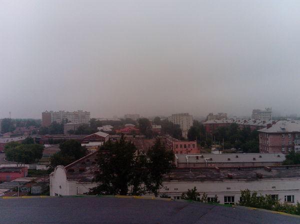 Просыпающийся туманный Омск с крыши цирка Омск, моё, утро, длиннопост