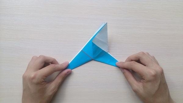 Оригами для чайников 2: Птица, машущая крыльями оригами, птицы, Своими руками, длиннопост, гифка