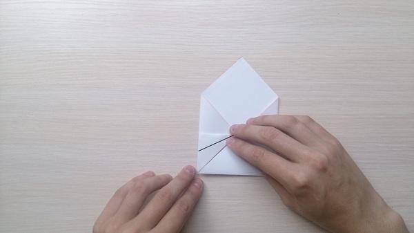 Оригами для чайников 3: Бумажный поцелуй оригами, губы, поцелуй, Своими руками, длиннопост, гифка