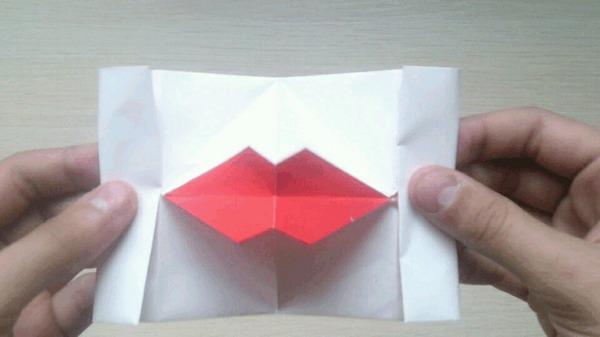 Оригами для чайников <strong>своими</strong> 3: Бумажный поцелуй оригами, губы, поцелуй, Своими руками, длиннопост, гифка