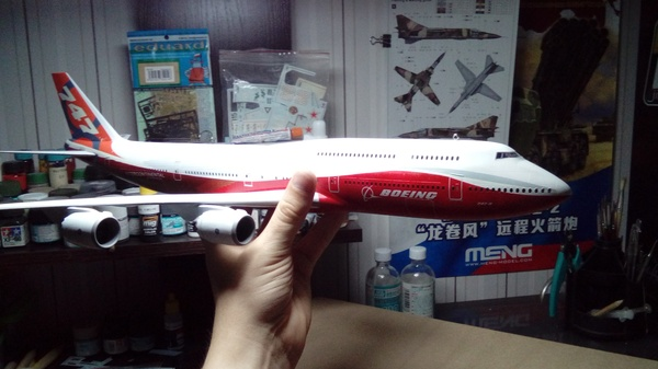 Модель самолета Боинг-747-8 Сборная модель, моделизм, боинг, Боинг 747, самолет