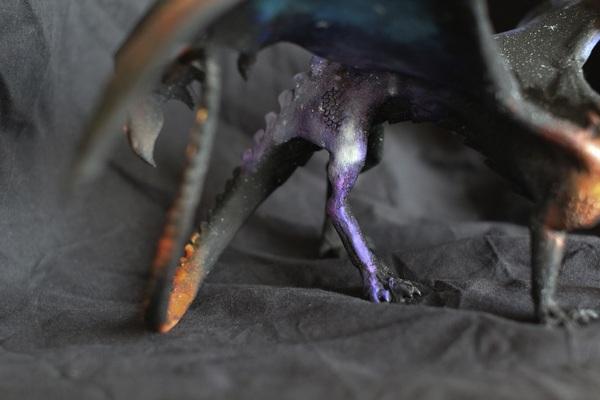 Дракон, который несёт космос... дракон, рукоделие, Своими руками, полимерная глина, моё, Драконья Ферма, длиннопост