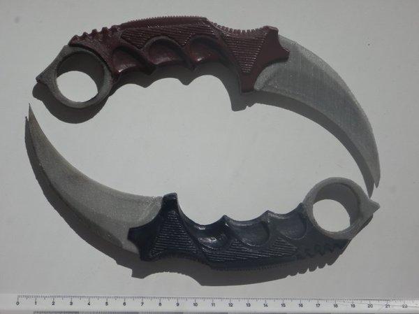 """Печать тренировочных ножей - """"мутация"""" керамбита. Керамбит, Мутация, Опыт, 3d печать, Длиннопост"""