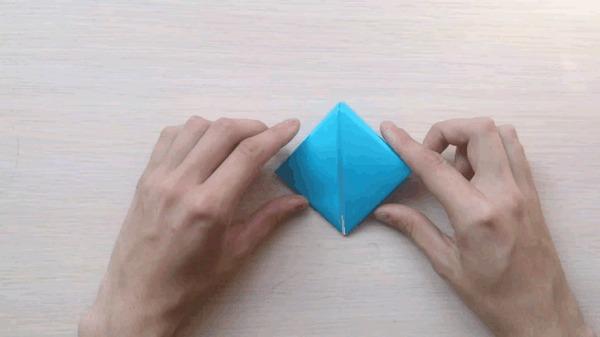 Оригами для чайников 5: Коробочка санбо оригами, коробка, санбо, гифка, длиннопост