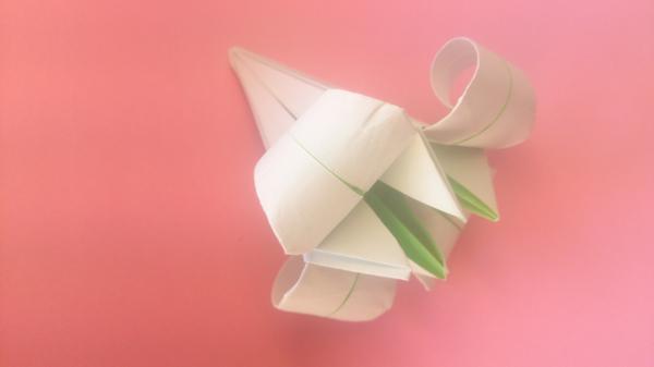 Оригами для чайников 6: Лилия Оригами, Цветы, Лилия, Гифка, Длиннопост