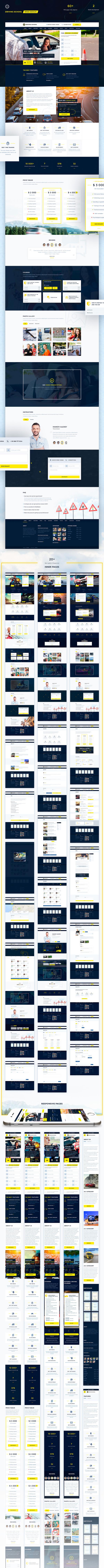 Дизайн сайта-шаблона на тему автошколы и автоинструкторов, разработано более 60 страниц в адаптиве Автошкола, Дизайн, Веб-Дизайн, Дизайнер, Фриланс, Работа, Веб-Разработка, Длиннопост