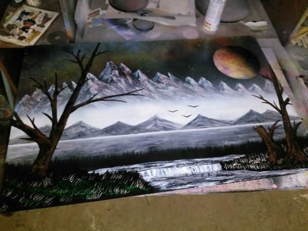 Снова немного Spray Paint'a Spray art, Spacepainting, Рисунок, Арт, Моё