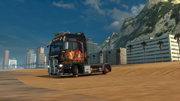 Не знаю, как вы, а я решил заехать на пляж Копакабана, прямо на грузовике! Euro Truck Simulator 2, Пляж копакабана, Рио-Де-Жанейро