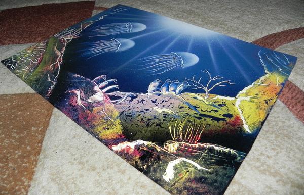 Spray art на глубине Глубина, Арт, Картина, Спрей, Spray art