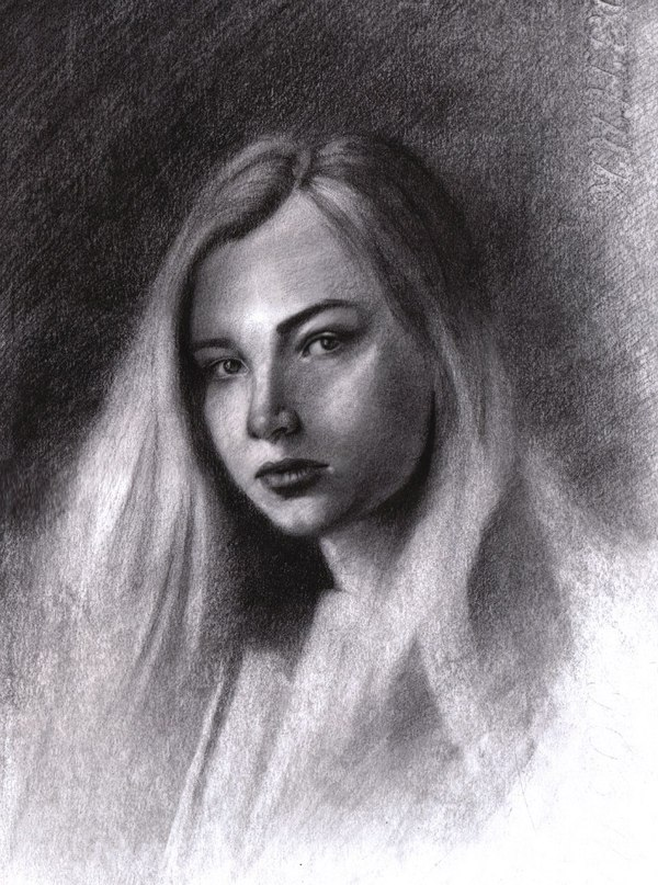 Портрет углём