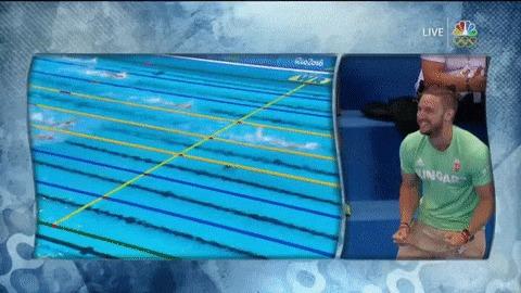 Когда твоя жена выигрывает олимпийское золото и устанавливает мировой рекорд Гифка, Плавание, Водные виды спорта, Олимпийские игры, Катинка Хоссу