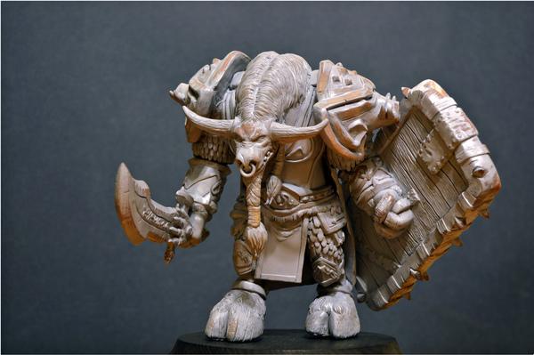 Фигурка таурена по мотивам WoW. длиннопост, wow, Орда, фигурка, творчество, полимерная глина, хобби, warcraft