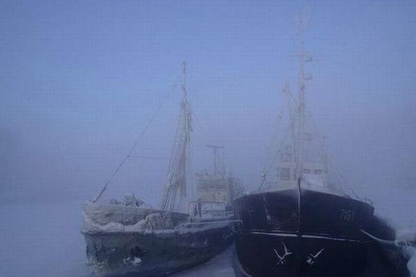 Корабли на зимовке Корабль, Зимовка, Интересное, Зима, Длиннопост
