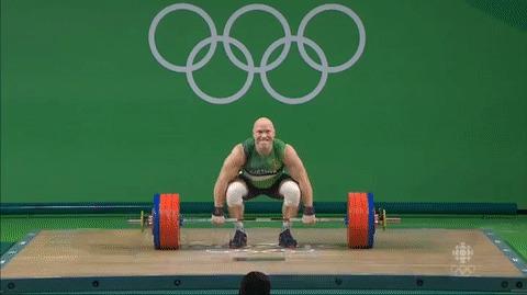 Когда подготовил победный танец, но победить не получилось :\ Гифка, Олимпийские игры, Тяжелая атлетика