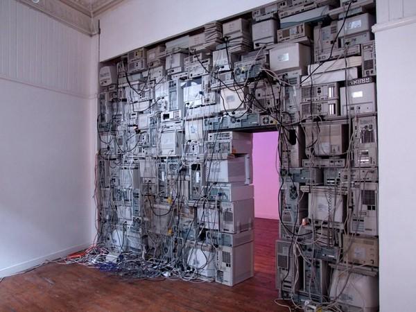 Когда очень много ненужных компьютеров и нужна стена. Компьютер, Монитор, Старое, Красота, Техно ню