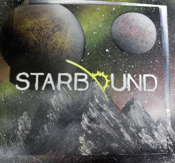 Навеяно темой Starbound'a Starbound, Арт, Картина, Спрей, Spray art, Spacepainting