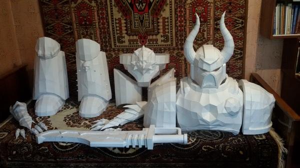Костюм хаосмарина своими руками ver.2.0 Warhammer 40k, Warhammer chaos, Хаосмарин, Своими руками, Pepakura, Пейпер крафт, Длиннопост