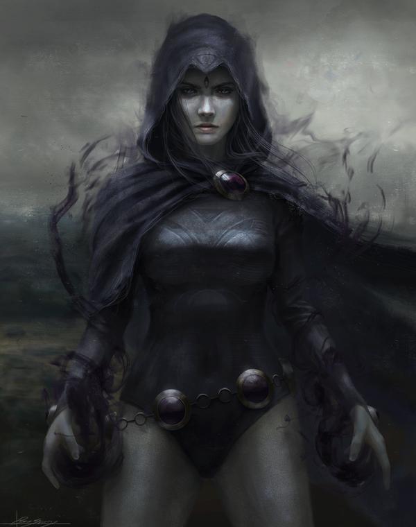 Raven Арт, Комиксы, Dc comics, Teen Titans, Raven