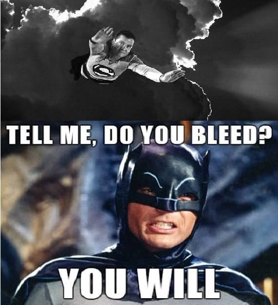 Бэтмен против Супермена: олдскул-версия.