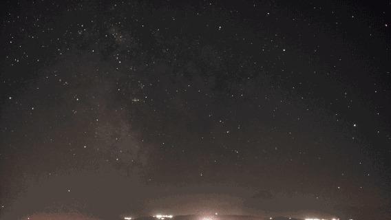 Ночная GIF. Попытка #1 Гифка, Таймлапс, Ночь, Звезда
