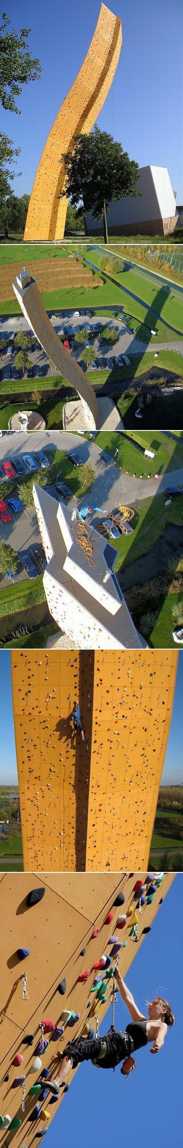 Экскалибур - высокая стена для скалолазов в Голландии. 37 метров (примерно 12 этажей). Скалолазание, Экскалибур, Голландия, Длиннопост