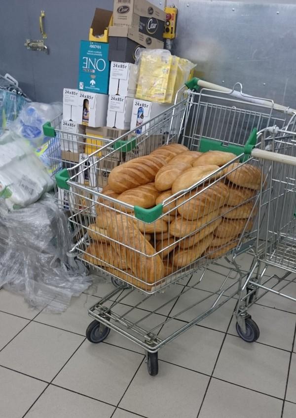 Как нам продают хлеб в магазинах... Антисанитария, Хлеб, Магазин, Безобразие