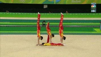 Когда потеряли скакалку, а программу выполнять надо Олимпиада, Спорт, Олимпийские игры, Китай, Гифка