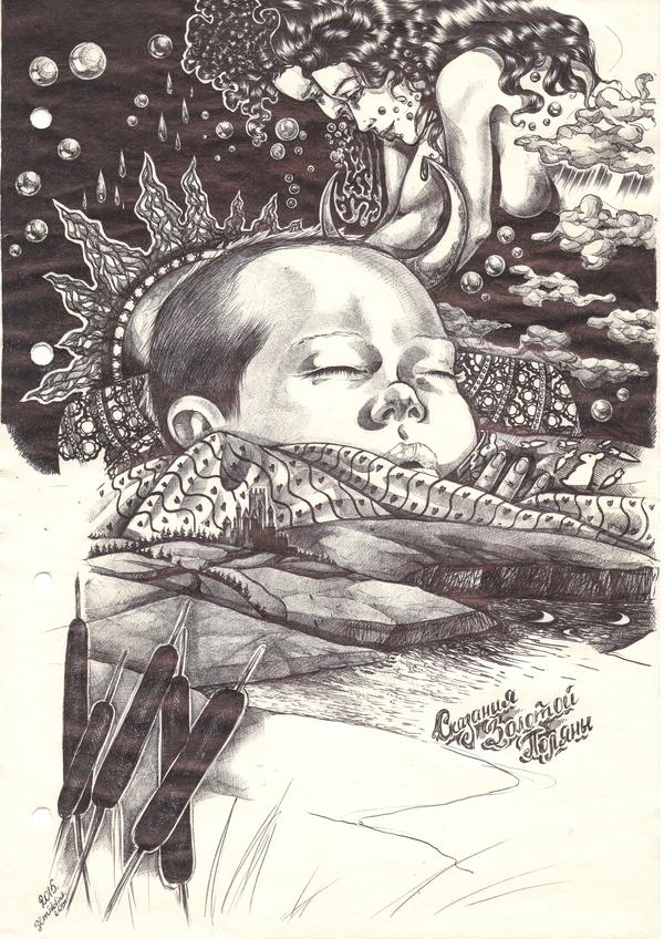 Жена рисует простой черной ручкой. Формат А4. Рисунок, Художник, Картина, Арт, Рисунок ручкой, Графика