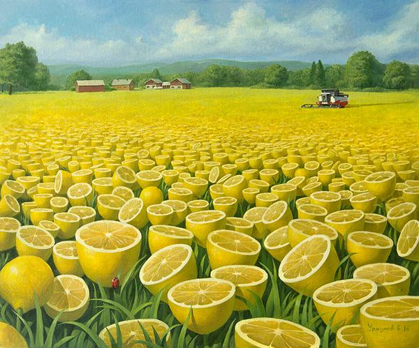 Лимонное поле 2 моё, творчество, Живопись, Искусство, Уржумов, лимон, поле, картина