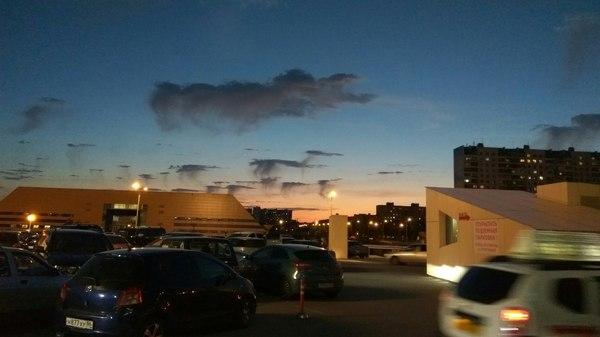 Необычные облака в Нижневартовске (фото на redmi note 3)
