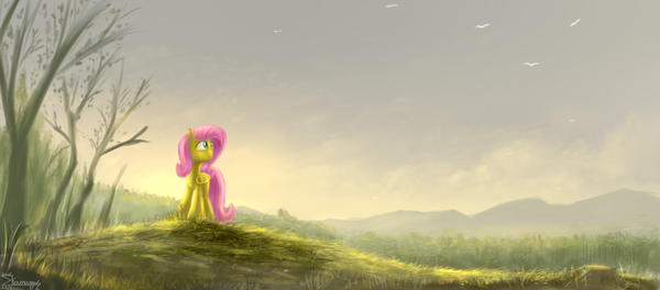 Новый день Fluttershy, My little pony