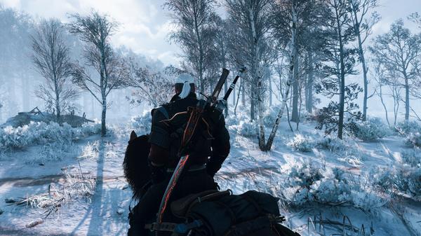 Пейзажи из The Witcher 3: Wild Hunt Игры, Ведьмак, Скриншот, Зима, Горы, Графон