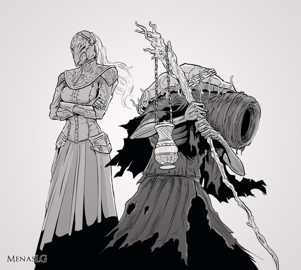 Персонажи Dark Souls 3 Dark Souls, Dark Souls 3, MenasLG, Персонажи, Арт, Длиннопост