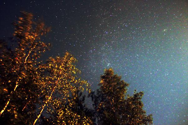 Августовское небо Небо, Звёзды, Фото