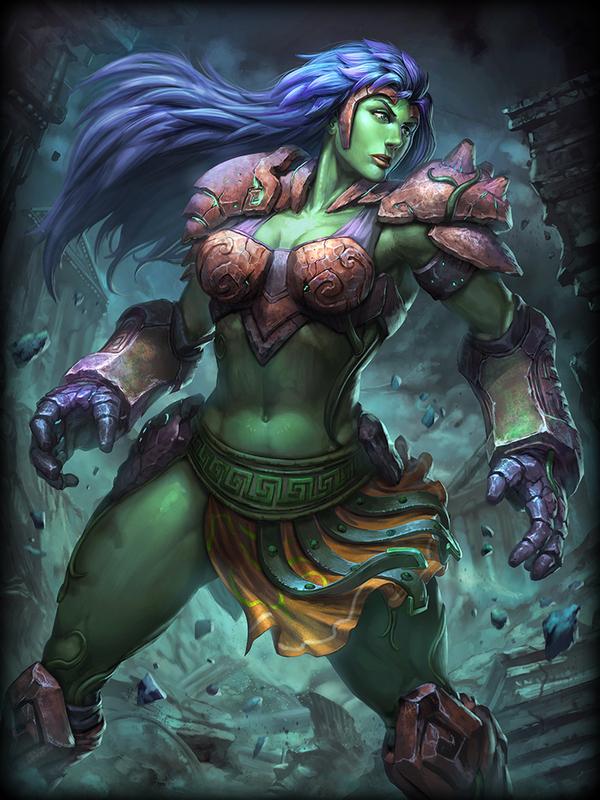 Terra, The Earth Mother Smite, Игры, Арт, Богиня, Terra, Крепкая девушка, Длиннопост