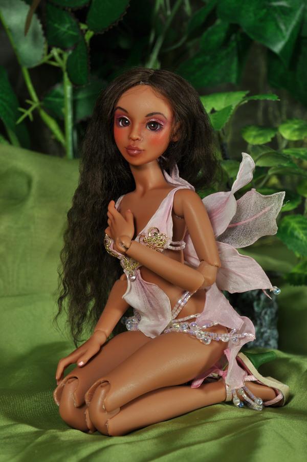 Орхидея. Пятничная куколка Кукла, Шарнирная кукла, Авторская игрушка, Ручная работа, Своими руками, Длиннопост