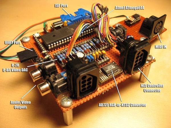DIY игровая консоль на ATmega644 как проект демосцены и досуга с Гейм-маркетом? Oldschool, TechnoBrother, 8 бит, AVR, Консоли, Идея, Разработчики игр, Вызов, Видео, Длиннопост
