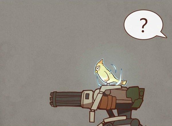 Ты усилен, иди проучи их! Overwatch, Ana Amari, Бастион, Птицы, Комиксы, Длиннопост