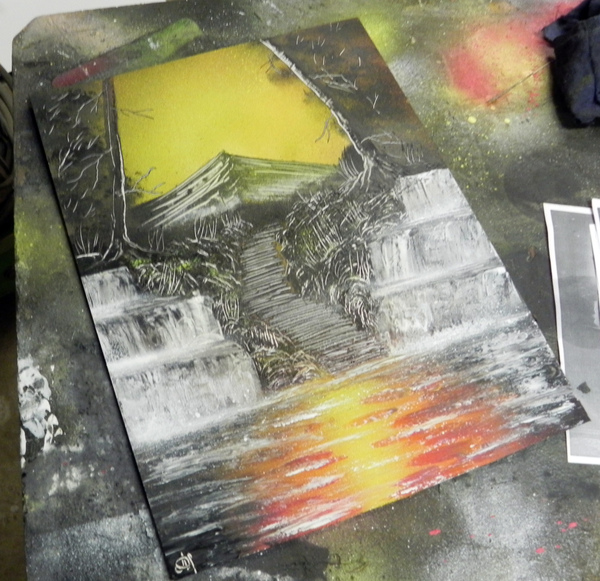 Nature Spray art Spray art, Spacepainting, Арт, Картина, Природа